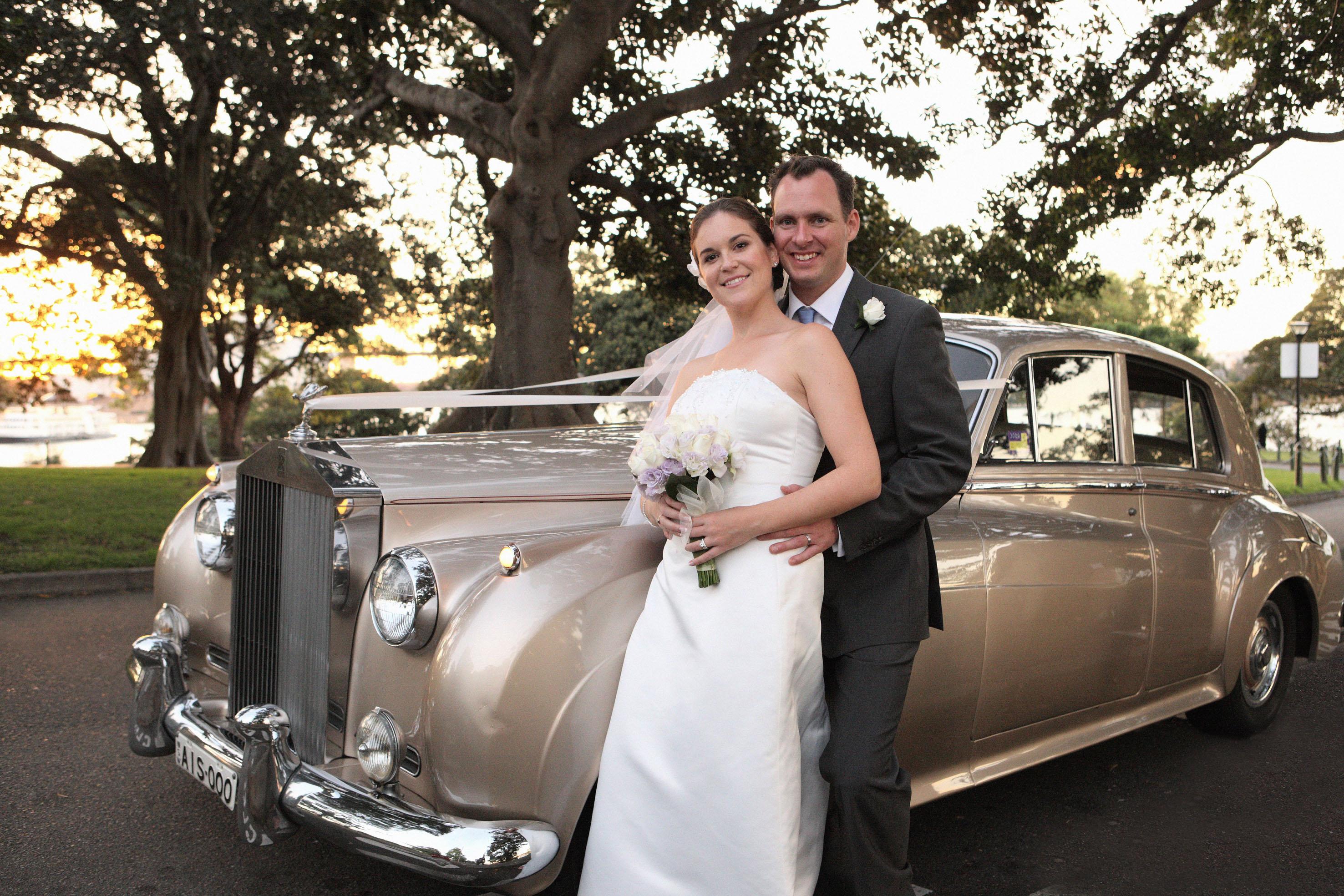 Champagne Rolls-Royce Wedding Cars Sydney