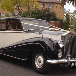 rare vintage 1956 Rolls-Royce 7 seater limousine wedding car for hire