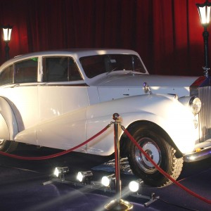 vintage white Rolls-Royce wedding car for hire