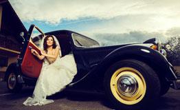 bride and wedding car sydney