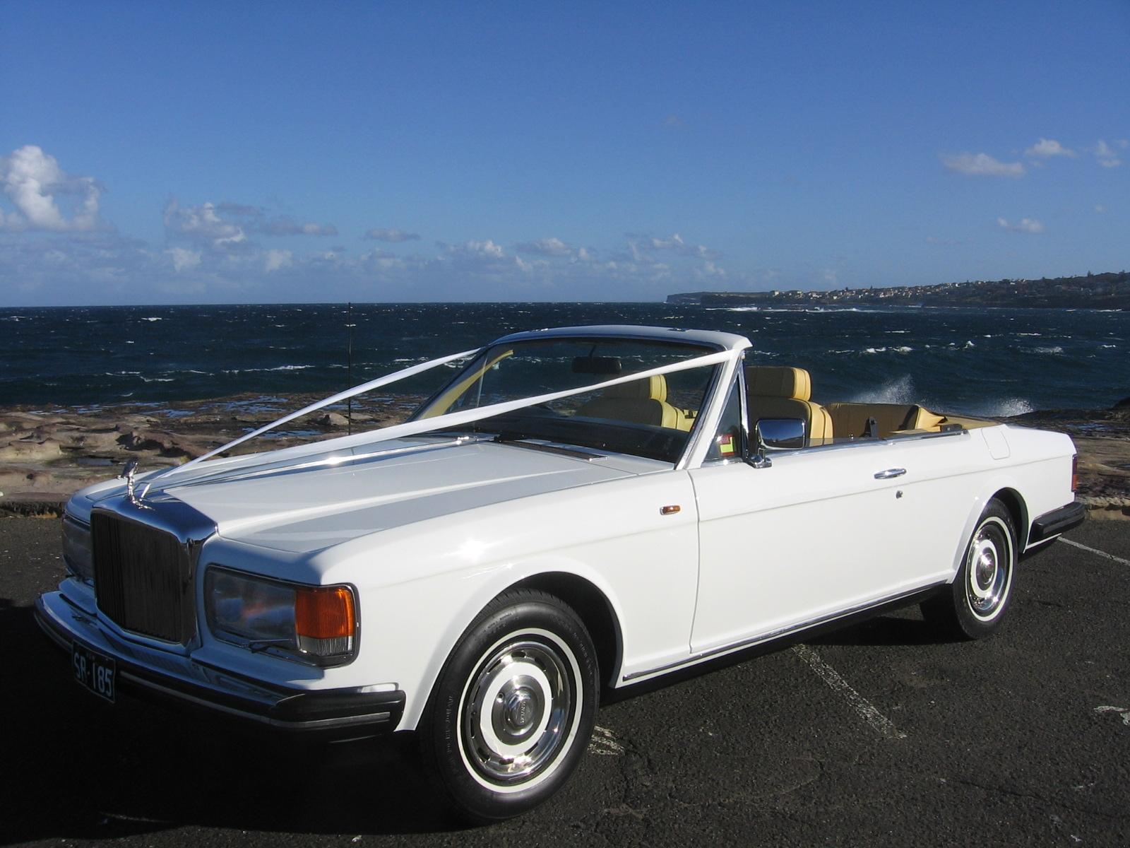 convertible rolls-royce wedding car for hire sydney