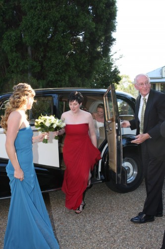 bridesmaids rolls royce wedding car for hire