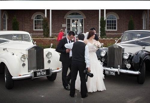 vintage rolls-royce wedding car package