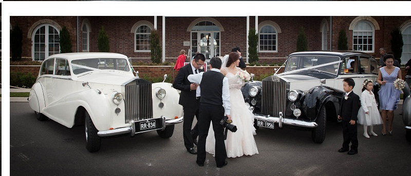 vintage rolls-royce wedding car package sydney