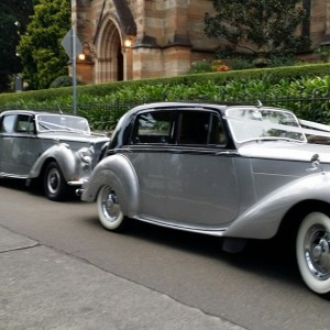 silver and black Bentley wedding package