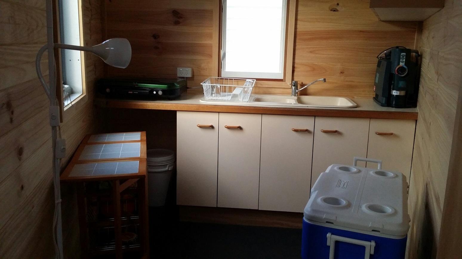 eco friendly yurt kitchen