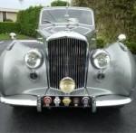 silver and black 1954 Bentley