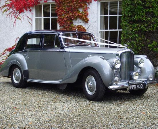 Bentley 2 tone silver classic wedding car sydney
