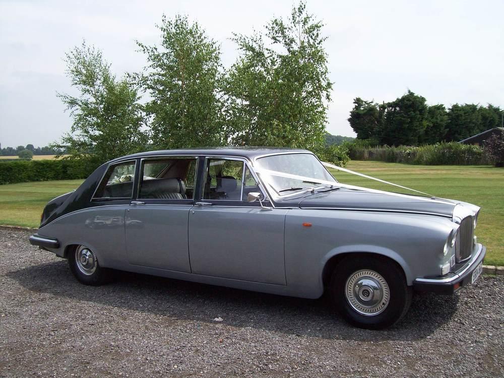 classic silver Daimler wedding car sydney