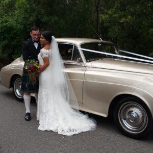 champagne vintage wedding car sydney