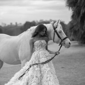 bride and horse image