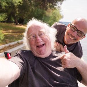 happy traveller in wheelchair sydney