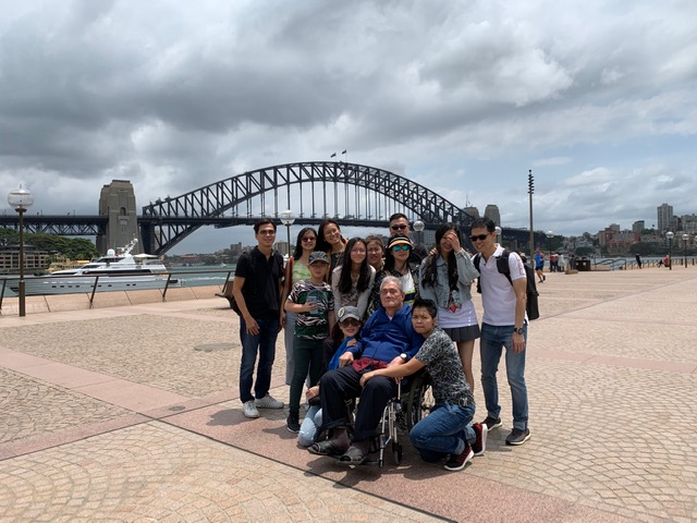 family visit to sydney opera house and harbour with wheelchair user