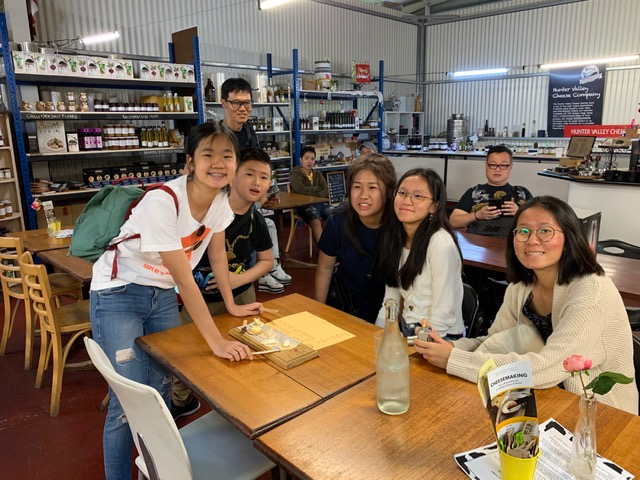 hunter valley cheese shop with wheelchair user