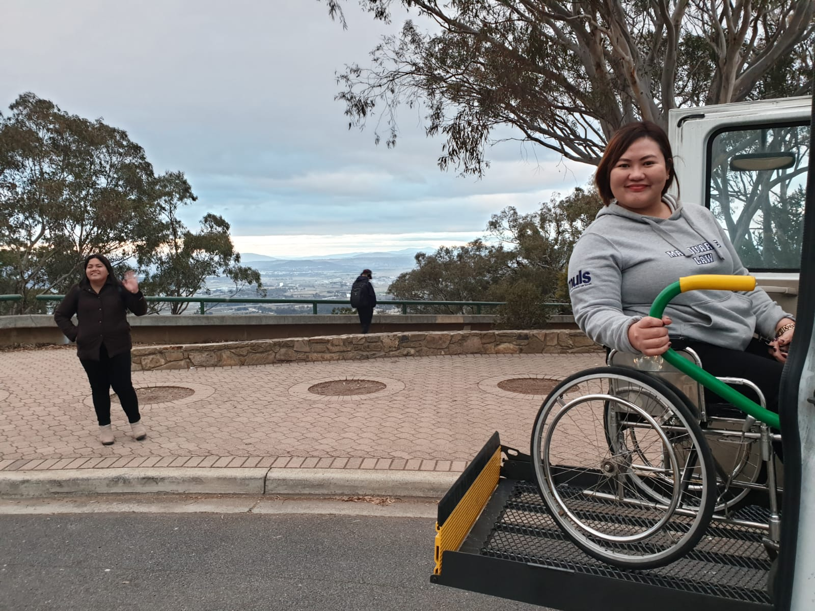 wheelchair user on sydney tour