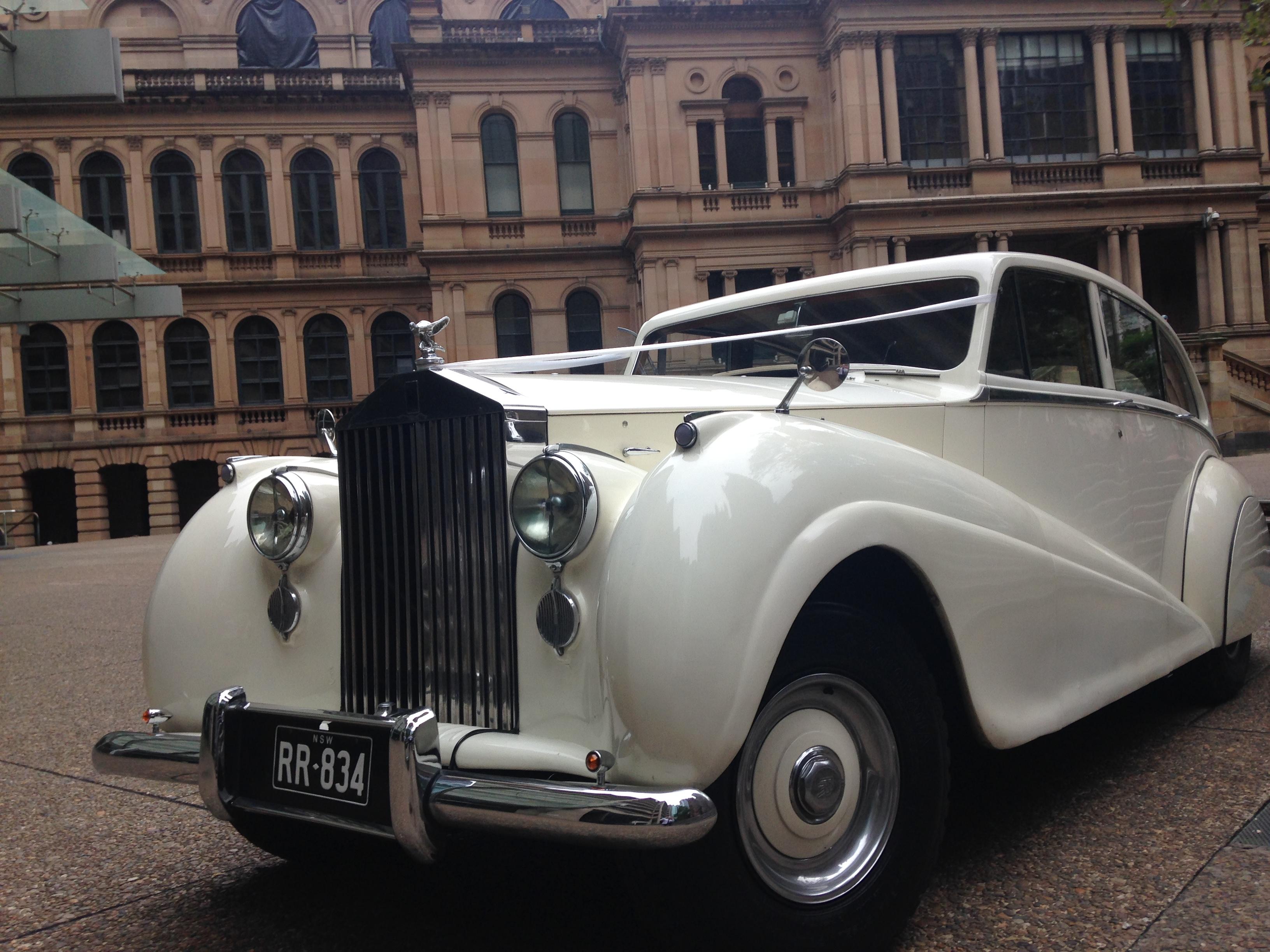 vintage white rolls-royce sydney